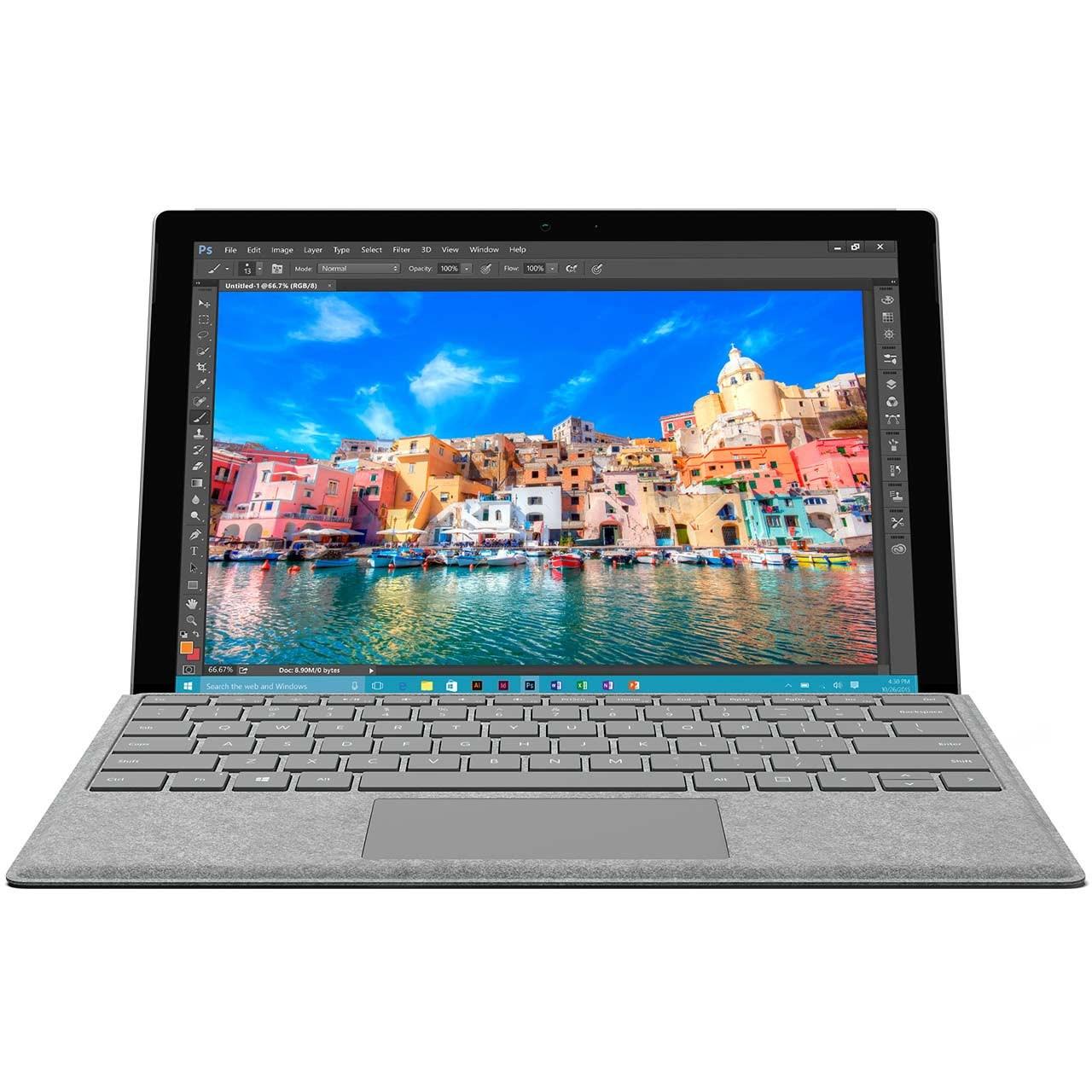 تبلت مایکروسافت مدل Surface Pro 4 - D به همراه کیبورد Signature Type Cover
