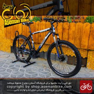دوچرخه کوهستان اینتنس مدل چمپیون 4 دی سایز 26 با سیستم دنده ی 21 سرعته مشکی آبی Bicycle Intense Champion 4D MTB Size 26 21 Speed Black Blue