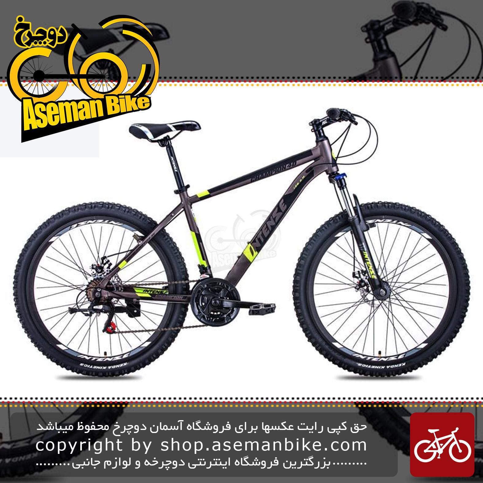 دوچرخه کوهستان شهری برند اینتنس مدل چمپیون 4 دی سایز 26 با 21 دنده 2020 Intense Mountain Bicycle Champion 4D 26 21 Speed 2020