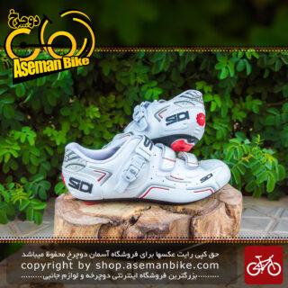 کفش دوچرخه سواری کورسی جاده سی دی ایتالیا مدل لول سفید SIDI On Road Shoes Italy LEVEL