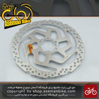 روتور صفحه دیسک ترمز دوچرخه شیمانو مدل آر تی 26 ام 180 میلیمتری Shimano Disc Rotor RT26M 180mm