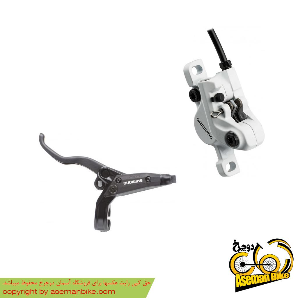 ست ترمز دیسک هیدرولیک دوچرخه شیمانو مدل ام 445 Shimano Hydraulic Disc Brake M445