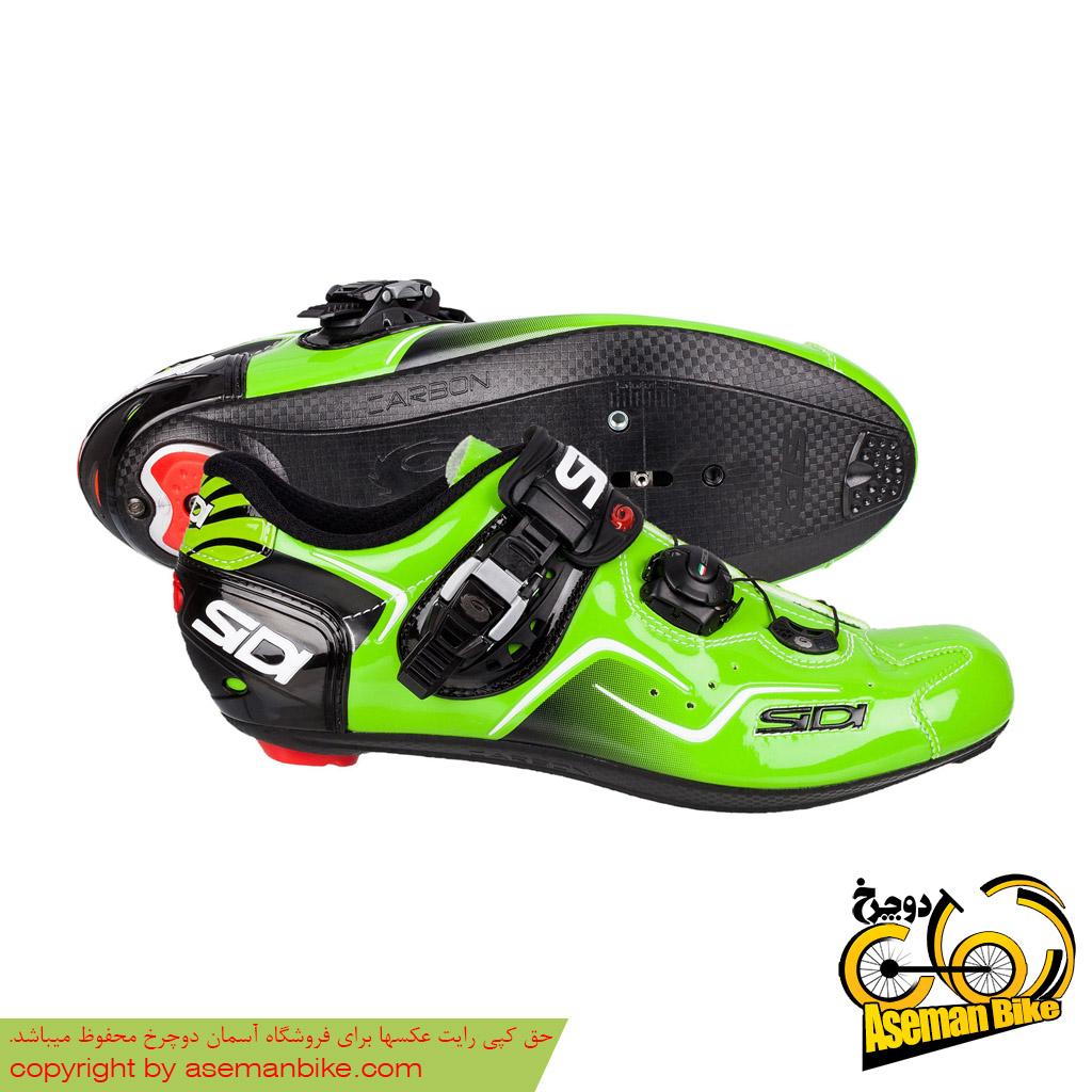 کفش دوچرخه سواری کورسی جاده سی دی ایتالیا مدل کاوس سبز SIDI On Road Shoes Italy Ckaos