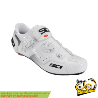 کفش دوچرخه سواری کورسی جاده سی دی ایتالیا مدل کاوس سفید SIDI On Road Shoes Italy Ckaos