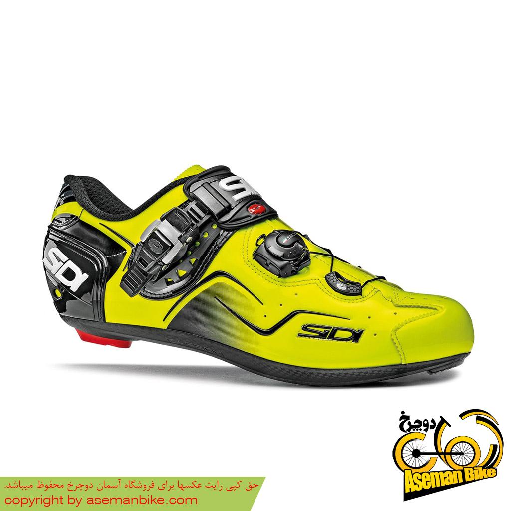 کفش دوچرخه سواری کورسی جاده سی دی ایتالیا مدل کاوس زرد SIDI On Road Shoes Italy Ckaos