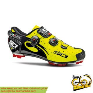 کفش دوچرخه سواری کوهستان سی دی ایتالیا مدل دراکو اس آر اس کربن سایز 40.5 زرد مشکی SIDI Shoes Italy MTB CARBON Drako SRS