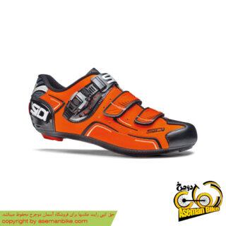 کفش دوچرخه سواری کورسی جاده سی دی ایتالیا مدل لول سفید نارنجی SIDI On Road Shoes Italy LEVEL