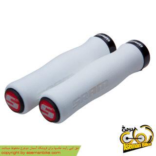 گریپ دوچرخه اسرم فوم کانتور مشکی سفید SRAM Lock On Grips Foam Contour White/Black