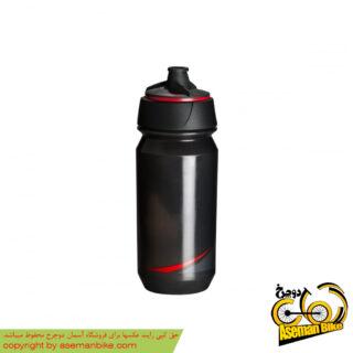 بطری آب دوچرخه تکس شانتی تویست 500 سی سی دودی/قرمز Tacx Bottle Shanti Twist 500cc