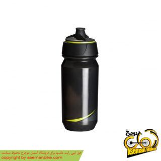 بطری آب دوچرخه تکس شانتی تویست 500 سی سی دودی/زرد Tacx Bottle Shanti Twist 500cc