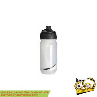 بطری آب دوچرخه تکس شانتی تویست 500 سی سی شفاف/مشکی Tacx Bottle Shanti Twist 500cc