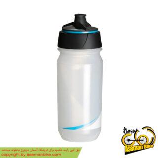بطری آب دوچرخه تکس شانتی تویست 500 سی سی شفاف/آبی Tacx Bottle Shanti Twist 500cc