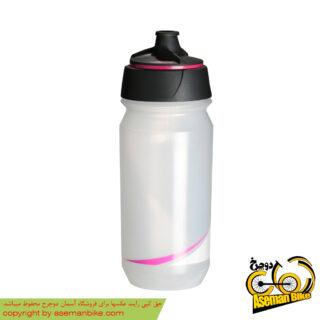 بطری آب دوچرخه تکس شانتی تویست 500 سی سی شفاف/فلورسنت-صورتی Tacx Bottle Shanti Twist 500cc