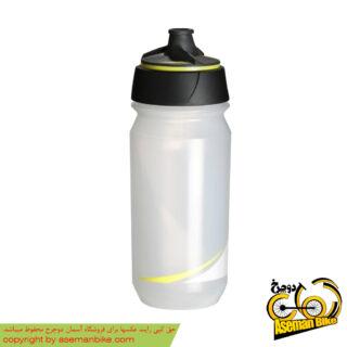 بطری آب دوچرخه تکس شانتی تویست 500 سی سی شفاف/فلورسنت-زرد Tacx Bottle Shanti Twist 500cc