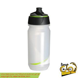 بطری آب دوچرخه تکس شانتی تویست 500 سی سی شفاف/سبز Tacx Bottle Shanti Twist 500cc