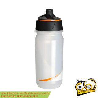 بطری آب دوچرخه تکس شانتی تویست 500 سی سی شفاف/نارنجی Tacx Bottle Shanti Twist 500cc