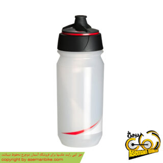 بطری آب دوچرخه تکس شانتی تویست 500 سی سی شفاف/قرمز Tacx Bottle Shanti Twist 500cc