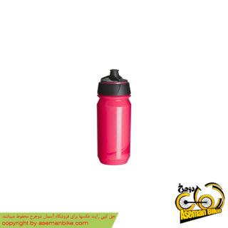 بطری آب دوچرخه تکس مدل شانتی تویست ۵۰۰ سی سی صورتی شفاف Tacx Bottle Shanti Twist 500cc