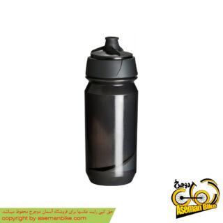 بطری آب دوچرخه تکس مدل شانتی تویست 500 سی سی مشکی دودی Tacx Bottle Shanti Twist 500cc