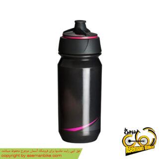 بطری آب دوچرخه تکس مدل شانتی تویست 500 سی سی دودی صورتی فلورسنت Tacx Bottle Shanti Twist 500cc