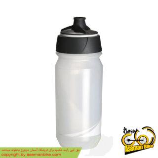 بطری آب دوچرخه تکس شانتی تویست 500 سی سی شفاف/سفید Tacx Bottle Shanti Twist 500cc