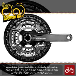 طبق قامه ترکینگ دوچرخه شیمانو دیور اف سی - تی 6010 3 سرعته 48 و 38 و 28 دندانه Shimano FC-T6010 3 DEORE 10-SP 48-36-26T
