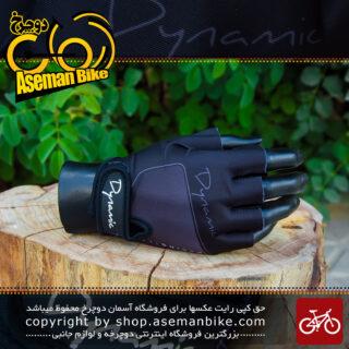 دستکش دوچرخه سواری دینامیک مشکی Dynamic Gloves