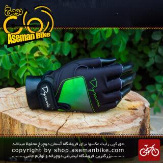 دستکش دوچرخه سواری دینامیک سبز مشکی Dynamic Gloves