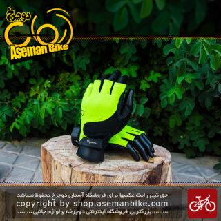 دستکش دوچرخه سواری دینامیک فسفری مشکی Dynamic Gloves
