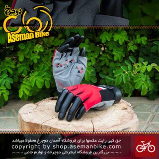 دستکش دوچرخه سواری دینامیک قرمز مشکی Dynamic Gloves