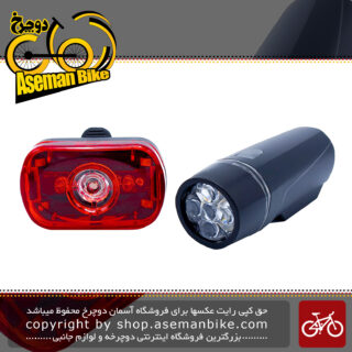 چراغ جلو و عقب دوچرخه مدل Bicycle Flash Light XC-100115
