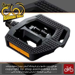 پدال دوچرخه شیمانو دو طرفه لاک و ساده شیمانو دیور ال ایکس Shimano Deore LX PD-T421 Pedal