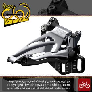طبق عوض کن دوچرخه شیمانو ایکس تی 8025 ای Shimano Doere XT FD-M8025-E Conventional Front Derailleur (2x11-speed)