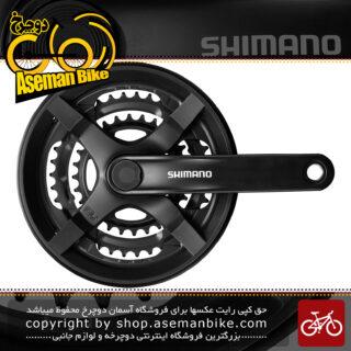 طبق قامه دوچرخه شیمانو تورنی اف سی-تی وای 301 Shimano FC-TY301 Tourney Crankset 48-38-28T – 7 8 Speed