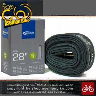تیوپ دوچرخه سایز 28 یا 700x(28-47) والف آمریکایی Schwalbe Bicycle Tube - 40mm Schrader American Valve - 700 x (700 x 28-47 - 40mm Schrader Valve - AV)