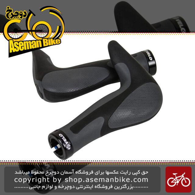 گریپ سردسته طبی دوچرخه تایوان ولو مدل شاخ گاوی دار قفل دار Velo VLG 849AD3 Bicycle Handle Grips