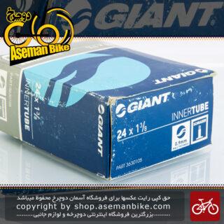 تیوپ ویلچر برند جاینت سایز 24 در 1 3/8 والف موتوری ساخت تایوان Bicycle Giant Tube 24x 1 3/8 Made in Taiwan