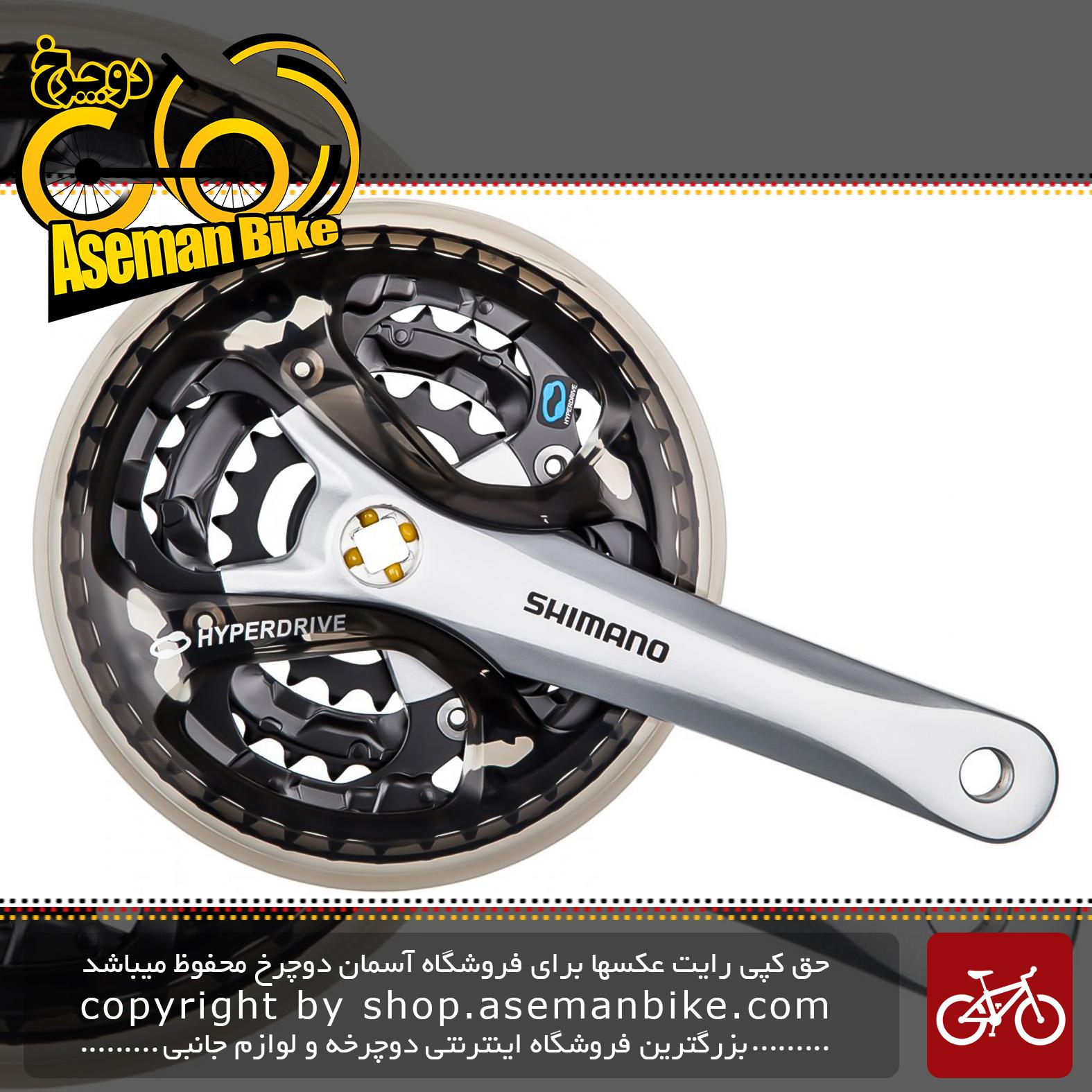 طبق قامه دوچرخه شیمانو مدل آسرا اف سی – ام 361 42 و 32 و 22 دندانه Shimano Crankset Bicycle Acera FC-M361 42X32X22T 170M