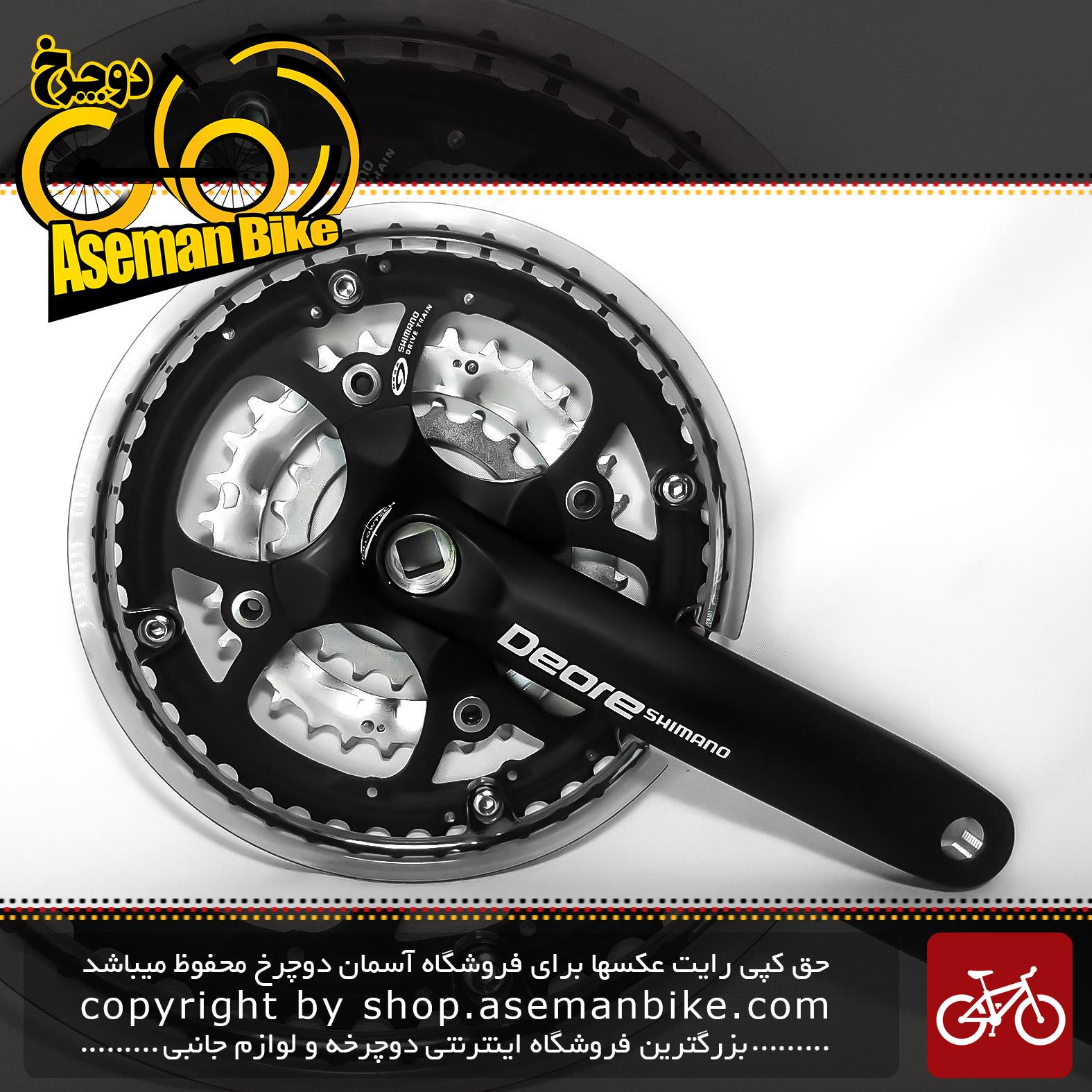 طبق قامه دوچرخه شیمانو مدل دیور اف سی – ام 510 44 و 32 و 22 دندانه Shimano Crankset Bicycle Deore FC-M510 44X32X22T