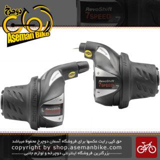دسته دنده موتوری وسپایی دوچرخه شیمانو مدل اس ال آر اس 36 3در 7 سرعته Shimano Revoshift Bicycle SL-RS36 3×7 Speed
