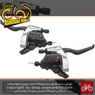 دسته دنده و دسته ترمز یکپارچه شیمانو مدل آسرا اس تی تی 3000 3 در 9 سرعته Shimano Shifter And Brake Lever Bicycle Acera ST-T3000 3×9 Speed