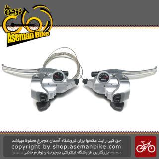 دسته دنده و دسته ترمز یکپارچه شیمانو مدل نکسیو اس تی - تی 400 3 در 8 سرعته Shimano Shifter And Brake Lever Bicycle Nexave ST-T400 3×8 Speed