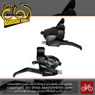 دسته دنده و دسته ترمز یکپارچه شیمانو مدل اس تی ای اف 51 3 در 7 سرعته Shimano Shifter And Brake Lever Bicycle ST-EF41 3×7 Speed