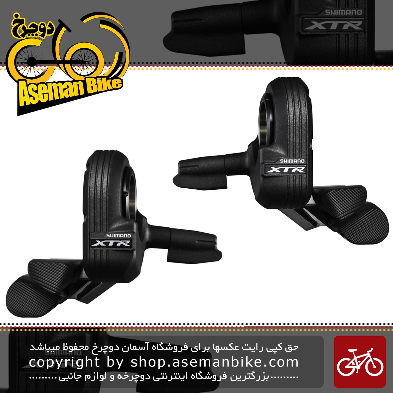 دسته دنده سیستم برقی الکتریکی دوچرخه شیمانو ایکس تی آر ژاپن 2/3 در 11 سرعته ام 9050 Shimano XTR Di2 SW-M9050 2-3x11 Speed ShifterJapan