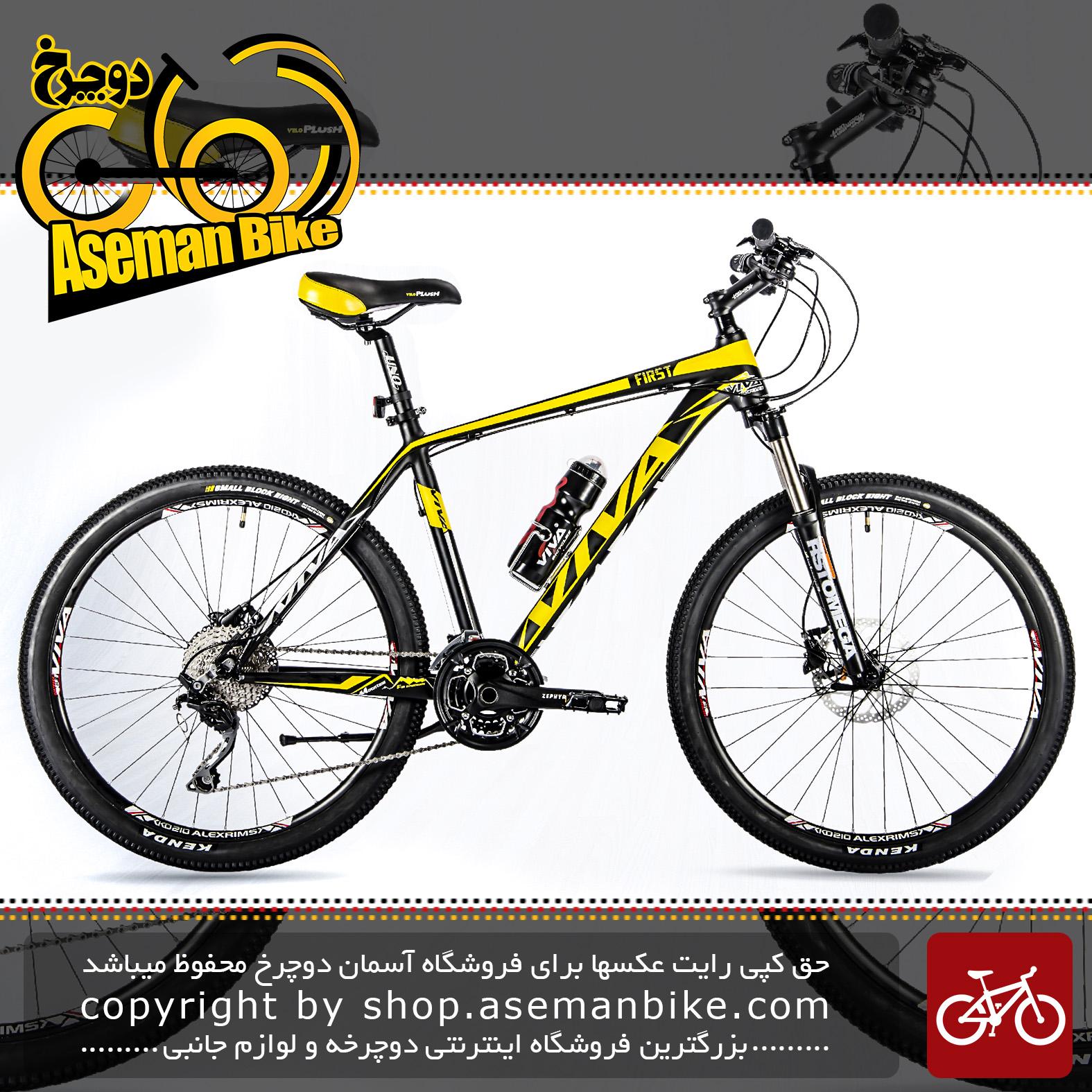دوچرخه کوهستان شهری ویوا مدل فرست ترمز دیسکی روغنی هیدرولیک 30 دنده شیمانو ژاپن سایز 26 Viva Mountain City Bicycle First 19 DISC 26 2018