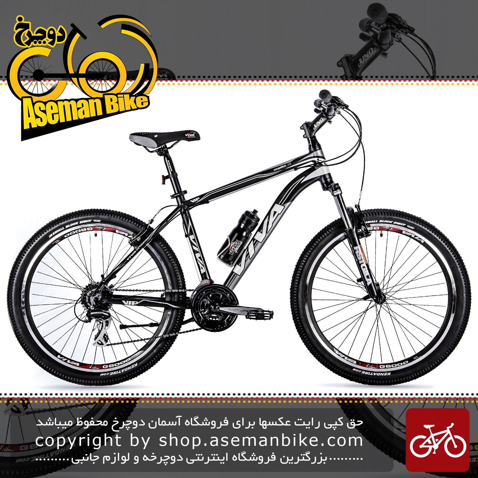 دوچرخه کوهستان شهری ویوا مدل وی آی پی 24 دنده شیمانو سایز 26 Viva Mountain City Bicycle VIP 18 26 2018