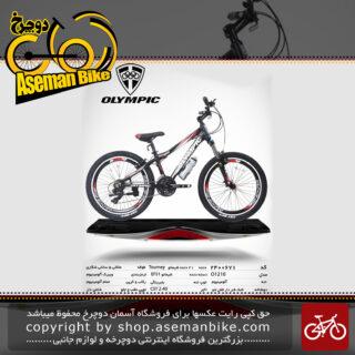 دوچرخه کوهستان شهری المپیک 21 دنده مدل او 1210 21 دنده سایز 24 ساخت تایوان OLYMPIA Mountain City Bicycle Taiwan O1210 Size 24 2019