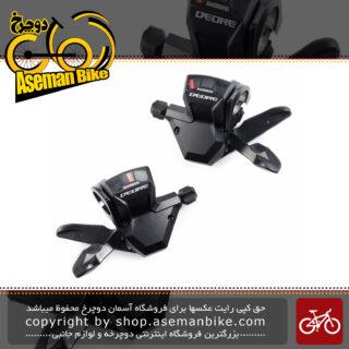 دسته دنده دوچرخه شیمانو ژاپن 3 در 9 سرعته ام 590 Shimano M590 3X9 Speed ShifterJapan