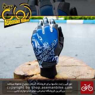 دستکش دوچرخه سواری مدل تیانجو ژله ای اسپرت آبی Gloves Bicycle Tianju Gel Sport Red