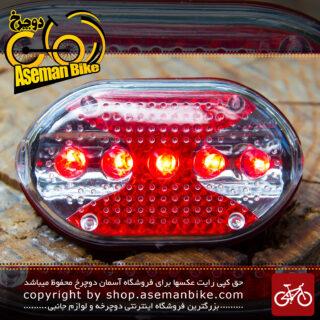 ست چراغ جلو و عقب ال ای دی با چند حالت نور ثابت و فلاشر Set Front And Rear Light Bicycle TOTI